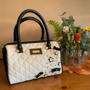 Betsy Johnson 3D Flowers & Bows Bag